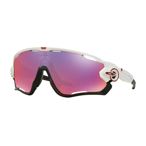 OAKLEY JAWBREAKER POLISHED WHITE w/PRIZM ROAD
